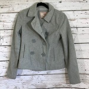❤️ Abercrombie & Fitch Gray Part Wool Coat